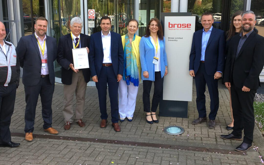 AMCO SERVICES INTERNATIONAL RECEIVE OFFICIAL BROSE KEY SUPPLIER RECOGNITION 2018